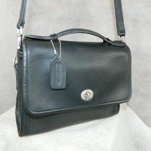 COACH Vintage Court Bag 9870 NICKEL Navy EXC +